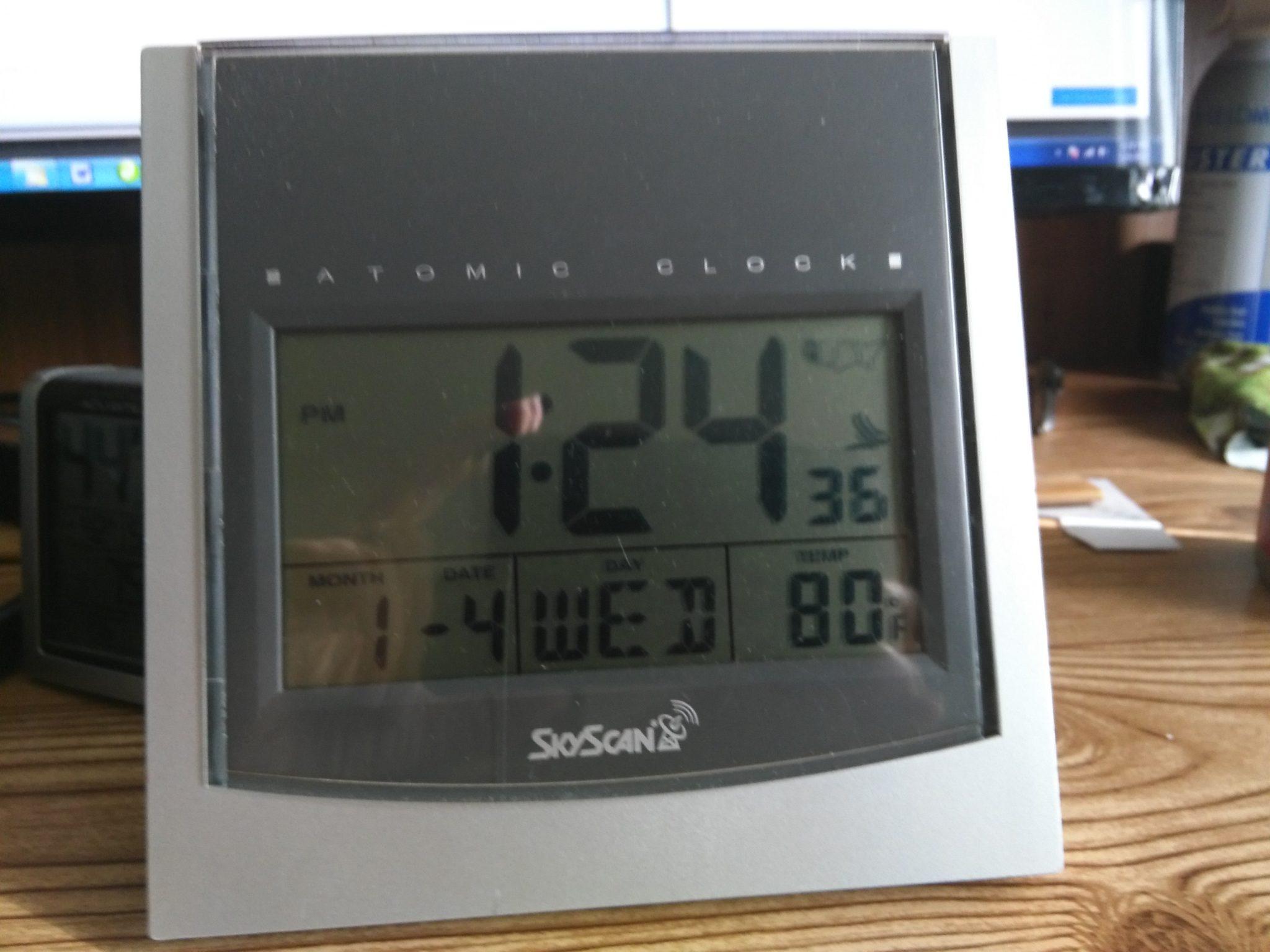 SkyScan 86742 adjusting the clock